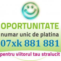 PLATINA VIP - 07xk.881.881 - Cartela numar special aur usor gold numere cartele