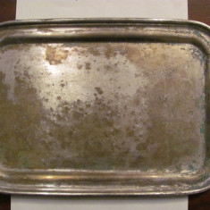 PVM - Tava foarte veche alama argintata / 30,50 cm x 20,50 cm / niciun marcaj