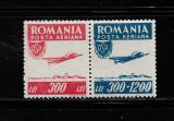 ROMANIA 1946 - ORGANIZATIA SPORTUL POPULAR, POSTA AERIANA, MNH - LP 200, Nestampilat