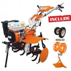 Motosapatoare RURIS 731K + roti cauciuc 4.00-10 + rarita ajustabila + roti metalice 350 fara manicot