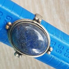 Inel LAPIS LAZULI - argint 925 - manufactura- PIATRA NATUARALA LAPIS LAZULI