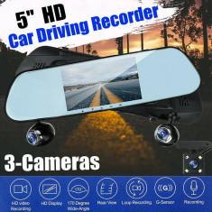 """Sistem oglinda 5"""" DVR+camera marsarier AF-100320-2"""