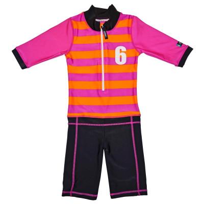 Costum de baie Sport pink marime 92- 104 protectie UV Swimpy for Your BabyKids foto