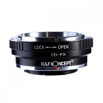 K&F Concept FD-FX adaptor montura Canon FD la Fuji X-Mount KF06.108 foto