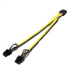 Cablu Active, adaptor alimentare placa video pci-e 8 pini tata la 2 x 6+2pini mama, multiplicator/ prelungitor spliter pcie 6pini 8pini, extensie pent foto