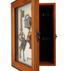 Cutie depozitare chei din lemn maro Autentic HomeTV