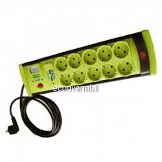 Prelungitor cu Protectie 10 Prize si USB, Cablu 5m, 3x1mm Vipex