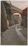 SV * Sibiu  Pasajul Pempflinger  /  Hermannstadt PempflingerGasse   cca. 1915, Circulata, Necirculata, Fotografie, Printata