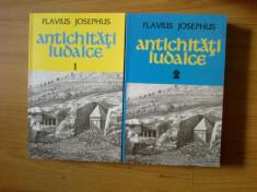 d6b Antichitati iudaice - Flavius Josephus 2 volume (carti noi) foto