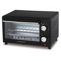 Cuptor electric Calzone Esperanza, 900 W, 10 l, termostat, maxim 250 C, Negru