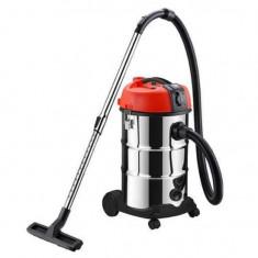 Aspirator industrial Strend Pro K-612D, 30 litri, 1300 W, filtru HEPA, priza incorporata, cuva inox Mania Tools