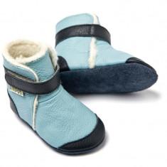 Cizme cu talpa moale Liliputi Eskimo Blue