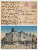 ROMANIA 1919 ocupatia in Ungaria ilustrata cenzurata Debretin spre Bucuresti