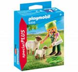 Playmobil Special Plus, Figurina fermiera cu oite