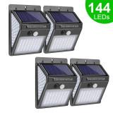 Lampă solară LED cu senzor mișcare PIR/144 leduri pentru casa si gradina
