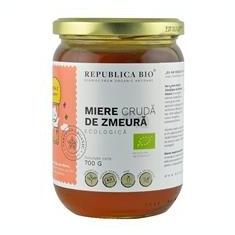 Miere Cruda de Zmeura Bio 700gr Republica Bio Cod: 29927