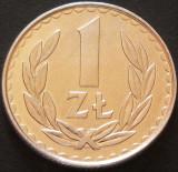 Moneda 1 ZLOT - POLONIA, anul 1985 *cod 3080 Allu - UNC!, Europa, Aluminiu