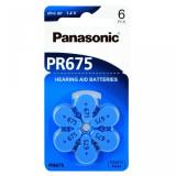 Baterii pentru proteze auditive Panasonic PR675 Zinc-Aer 6 Baterii / set