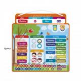 Calendar cu piese magnetice in limba engleza, Janod