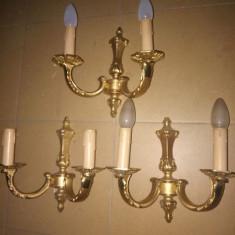 Superb set de 3 aplice din bronz Dore