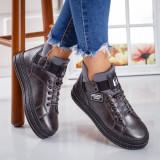 Sneakers dama cu platforma gri Afroze -rl