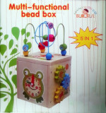 Jucarie centru/cub activitati educative 5 in 1 ceas-broscuta