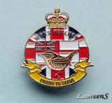 "Insigna  -  MARINA MILITARA MAREA BRITANIE "" W.R.N.S. -  Proud to Serve"""