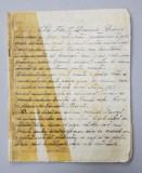 FRAGMENT DE JURNAL DIN PRIMUL RAZBOI MONDIAL , MANUSCRIS , 1928