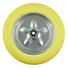 Roata roaba - spuma poliuretanica - ax subtire 14mm- 3.00-8/4.00-8 - MTO-GPA00042