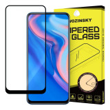 Folie Protectie Ecran WZK pentru Huawei P Smart Z / Huawei Y9 Prime (2019), Sticla securizata, Full Face, Full Glue, Neagra