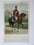 Rara! Carte postala circulata 1907:Roșior-Salutari din Romania