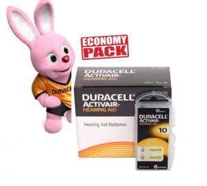 Baterii Duracell 10 pentru aparate auditive Economy Pack 60 baterii