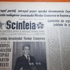ziarul scanteia 9 noiembrie 1979-cuvantarea lui ceausescu