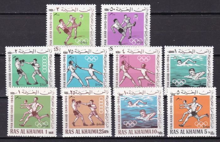 Ras al Khaima  1966  sport  MI 113-122  supratip.  MNH  w62