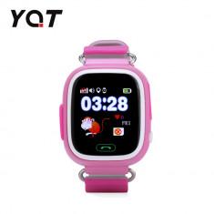 Ceas Smartwatch Pentru Copii YQT Q523 cu Functie Telefon, Localizare GPS, Pedometru, SOS - Roz, Cartela SIM Cadou