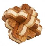 Cumpara ieftin Joc logic IQ din lemn bambus 3D Round Knot