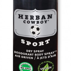 Deodorant spray pt barbati Sport, protectie maxima, Herban Cowboy, 80 g