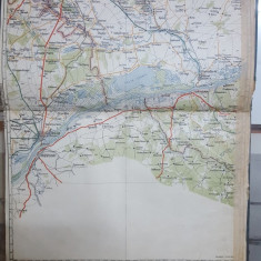 Harta București-Giurgiu, Russciuc, Turtucaia, Oltenița, 1927