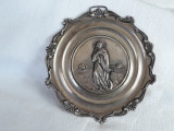 argint MEDALION PECTORAL ISUS HRISTOS cu HERUVIMI vechi OPULENT rar MASIV superb