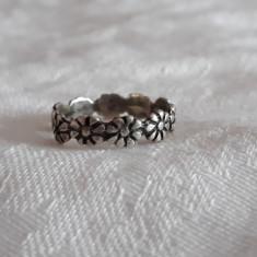 INEL argint CORONITA MARGARETE tip verigheta VECHI de efect Patina Minunata