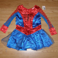 Costum carnaval serbare spiderman spidergirl pentru copii de 2-3 ani, Din imagine