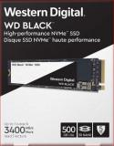 SSD WD Black Series 500GB PCI Express 3.0 x4 M.2 2280, 500 GB, Western Digital