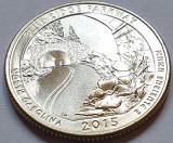25 cents / quarter 2015 SUA, North Carolina, Blue Ridge Parkway, litera D, America de Nord