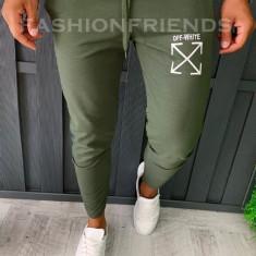 Pantaloni de trening pentru barbati - slim fit -kaki- A5949, Din imagine
