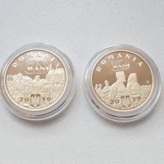 Set 2 monede proof 50 bani 2019 Ferdinand și Regina Maria