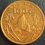 Cumpara ieftin Moneda exotica 100 FRANCI - POLINEZIA FRANCEZA, anul 2009 *cod 1604 = A.UNC, Australia si Oceania