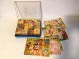 * Joc vechi cu cuburi cu imagini din povesti, West Germany, vintage, colectie