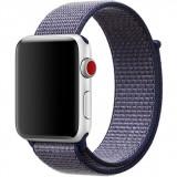 Cumpara ieftin Curea iUni compatibila cu Apple Watch 1/2/3/4/5/6, 38mm, Nylon Sport, Woven Strap, Midnight Blue