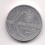 Moneda- ROMANIA- 500 Lei 1999 Eclipsa