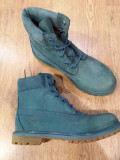 LICHIDARE STOC! Bocanci TIMBERLAND originali noi piele waterproof turquoise 40, Turcoaz, Piele naturala